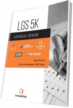 İncedetay Yayınları LGS 5K Kurumsal Deneme