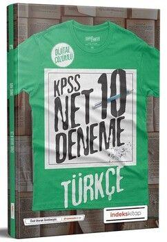 İndeks Kitap 2020 KPSS Türkçe Net 10 Deneme Çözümlü