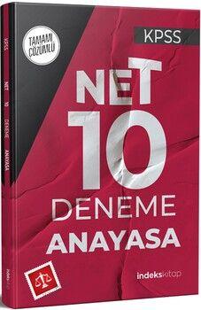 İndeks Kitap 2021 KPSS Anayasa Net 10 Deneme Çözümlü