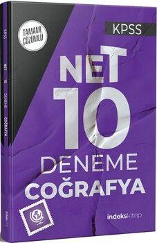 İndeks Kitap 2021 KPSS Coğrafya Net 10 Deneme Çözümlü
