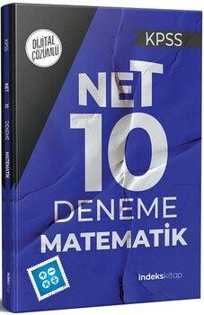 İndeks Kitap 2021 KPSS Matematik Net 10 Deneme Dijital Çözümlü