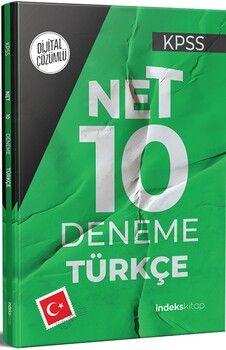İndeks Kitap 2021 KPSS Türkçe Net 10 Deneme Dijital Çözümlü
