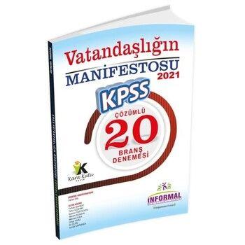 İnformal 2021 KPSS Lise Önlisans Vatandaşlığın Manifestosu 20 Çözümlü Deneme