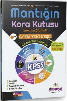 İnformal Yayınları KPSS Mantığın Kara Kutusu Tamamı Çözümlü Soru Bankası