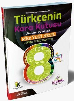 İnformal Yayınları 8. Sınıf LGS Türkçenin Kara Kutusu Tamamı Çözümlü Soru Bankası