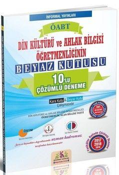 İnformal Yayınları ÖABT Din Kültürü ve Ahlak Bilgisi Öğretmenliğinin Beyaz Kutusu 10 lu Çözümlü Denemesi