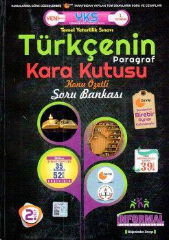 İnformal Yayınları YKS 1. Oturum TYT Türkçenin Paragraf Kara Kutusu Konu Özetli Soru Bankası 1. Cilt