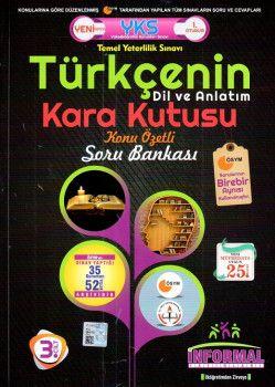 İnformal Yayınları YKS 1. Oturum TYT Türkçenin Dil ve Anlatım Kara Kutusu Konu Özetli Soru Bankası 3. Cilt