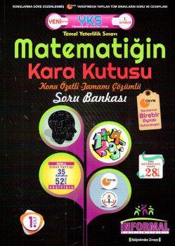 İnformal Yayınları YKS 1. Oturum TYT Matematiğin Kara Kutusu Konu Özetli Tamamı Çözümlü Soru Bankası 1. Cilt