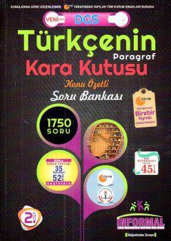 İnformal Yayınları DGS Türkçenin Paragraf Kara Kutusu Konu Özetli Soru Bankası