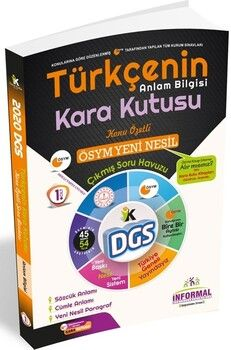 İnformal YayınlarıDGS 2020 Türkçenin Kara Kutusu Anlam Bilgisi 1.Cilt