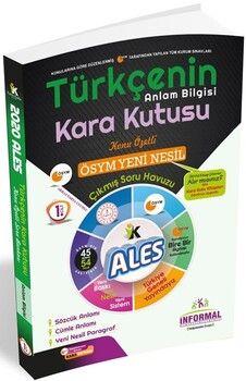 İnformal YayınlarıALES 2020 Türkçenin Kara Kutusu Anlam Bilgisi 1.Cilt