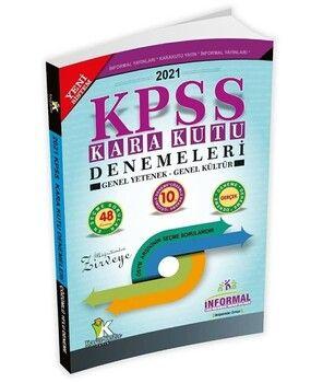 İnformal Yayınları 2021 KPSS Genel Yetenek Genel Kültür Kara Kutu 10 Deneme