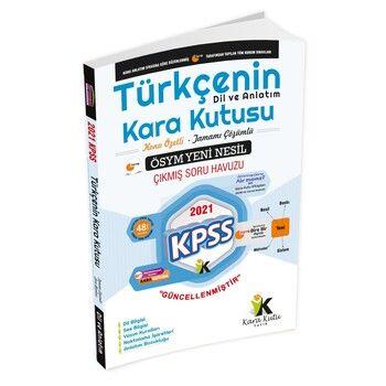İnformal Yayınları 2021 KPSS Türkçenin Karakutusu Dil ve Anlatım Konu Özetli Soru Bankası