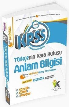 İnformal Yayınları 2022 KPSS Türkçenin Kara Kutusu Anlam Bilgisi Çıkmış Sorular Soru Bankası