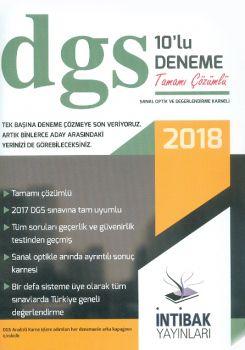 İntibak Yayınları 2018 DGS Tamamı Çözümlü 10 lu Deneme