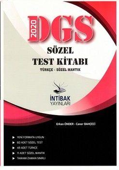 İntibak Yayınları 2020 DGS Sözel Test Kitabı