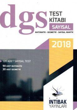 İntibak Yayınları 2018 DGS Sayısal Test Kitabı