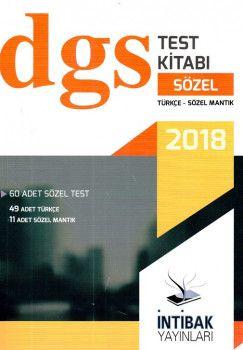 İntibak Yayınları 2018 DGS Sözel Test Kitabı