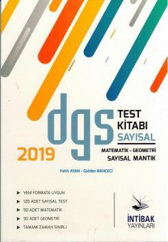 İntibak Yayınları 2019 DGS Sayısal Test Kitabı