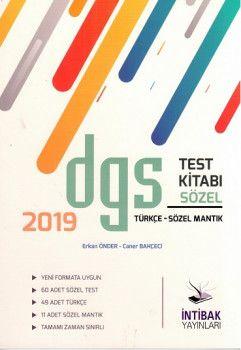 İntibak Yayınları 2019 DGS Sözel Test Kitabı