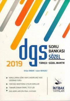 İntibak Yayınları 2019 DGS Türkçe Sözel Mantık Soru Bankası