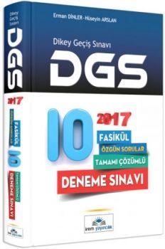 İrem Yayınları DGS 2017 Tamamı Çözümlü 10 Deneme