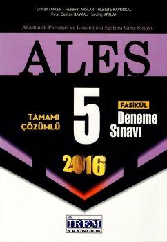 İrem Yayınları ALES 2016 Tamamı Çözümlü 5 Fasikül Deneme