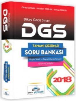 İrem Yayınları 2018 DGS Tamamı Çözümlü Soru Bankası