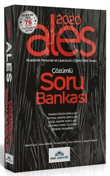 İrem Yayınları 2020 ALES Çözümlü Soru Bankası