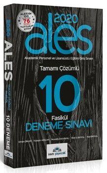 İrem Yayınları 2020 ALES 10 Fasikül Deneme