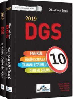 İrem Yayınları 2019 DGS Tamamı Çözümlü 10 Fasikül Deneme