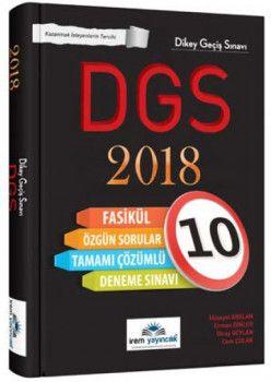 İrem Yayınları 2018 DGS Tamamı Çözümlü 10 Fasikül Deneme Sınavı