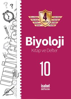 İsabet Yayınları 10. Sınıf Biyoloji Kitap ve Defter 4 Dörtlük