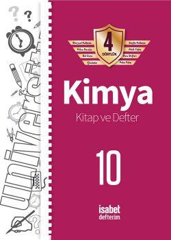 İsabet Yayınları 10. Sınıf Kimya Kitap ve Defter 4 Dörtlük