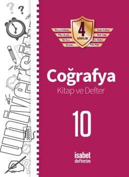İsabet Yayınları 10. Sınıf Coğrafya Kitap ve Defter 4 Dörtlük