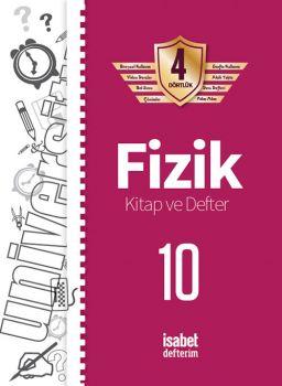 İsabet Yayınları 10. Sınıf Fizik Kitap ve Defter 4 Dörtlük