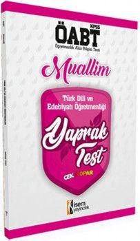 İsem ÖABT Muallim Türk Dili ve Edebiyatı Öğretmenliği Çek Kopart Yaprak Test
