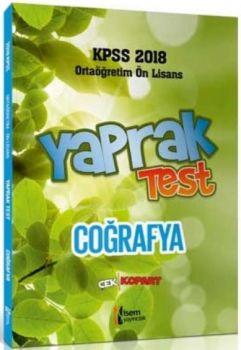 İsem Yayıncılık 2018 KPSS Ortaöğretim Ön Lisans Coğrafya Çek Kopart Yaprak Test