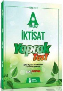 İsem Yayıncılık 2018 KPSS A Grubu İktisat Çek Kopart Yaprak Test