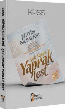 İsem Yayınları KPSS Eğitim Bilimleri Çek Kopart Yaprak Test