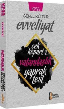 İsem Yayınları KPSS Evveliyat Vatandaşlık Çek Kopart Yaprak Test