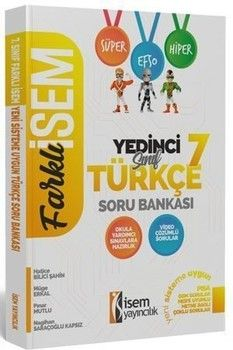 İsem Yayınları 7. Sınıf Türkçe Soru Bankası