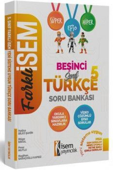 İsem Yayınları 5. Sınıf Türkçe Soru Bankası