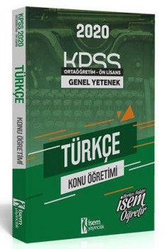 İsem Yayınları 2020 KPSS Ortaöğretim Ön Lisans Türkçe Konu Anlatımlı