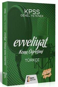 İsem Yayınları 2020 KPSS Evveliyat Türkçe Konu Öğretimi