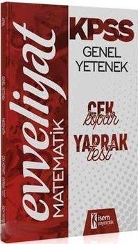 İsem Yayınları 2020 KPSS Evveliyat Matematik Çek Kopar Yaprak Test