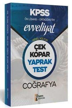 İsem Yayınları KPSS Ön Lisans Ortaöğretim Coğrafya Evveliyat Çek Kopar Yaprak Test