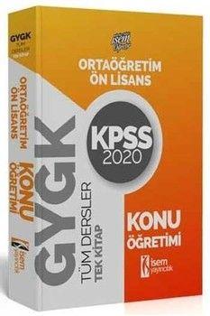 İsem Yayınları 2020 KPSS Önlisans Ortaöğretim GY GK Tüm Dersler Konu Öğretimi