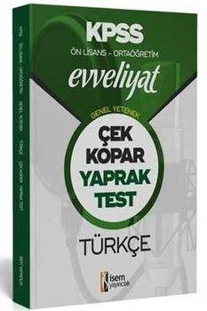 İsem Yayınları KPSS Ön Lisans Ortaöğretim Türkçe Evveliyat Çek Kopar Yaprak Test